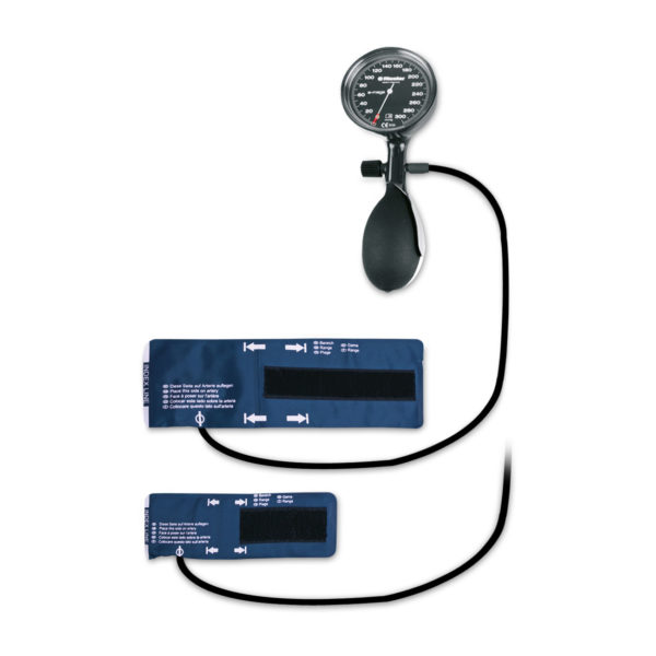 Sphygmomanometer with two cuffs